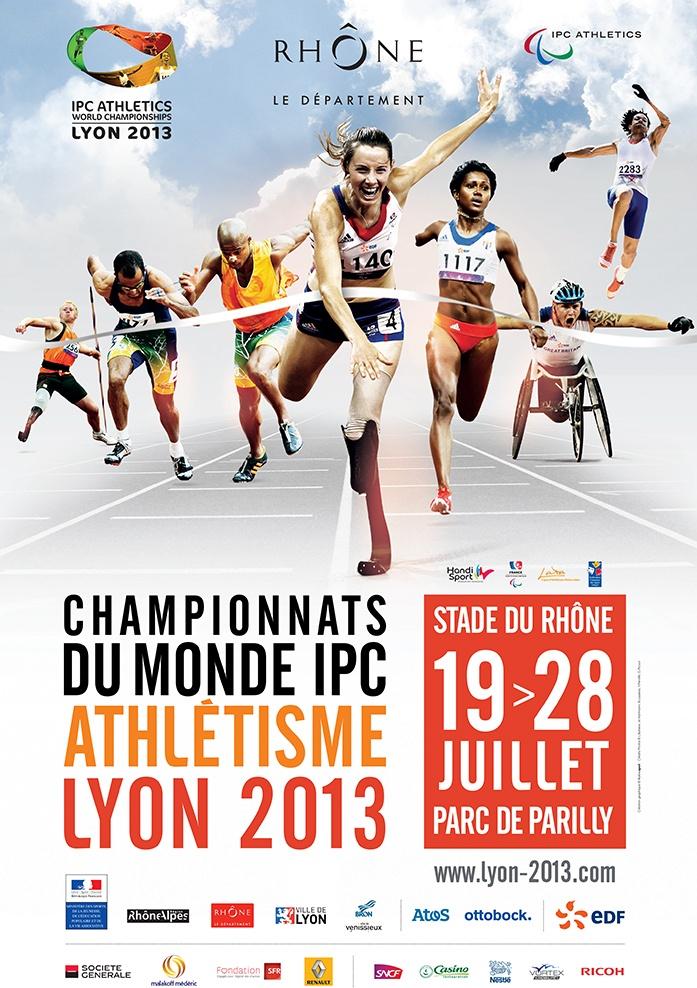 Les championnats du monde d'athlétisme IPC se tiendront du 19 au 28 juillet 2013 au Stade du Rhône, parc de Parilly