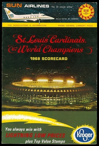 1968 St Louis Cardinals Game Program vs Cubs Scored | eBay