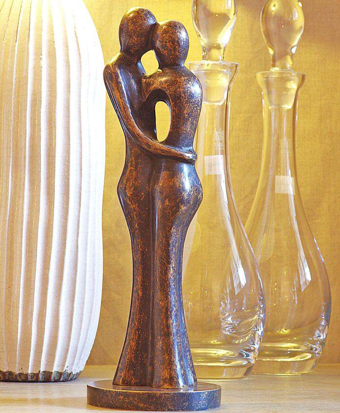 Bronzen tuinbeeld abstract liefdespaar - GerichteKeuze