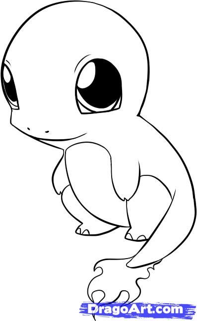 chibi charmander coloring pages - Google Search
