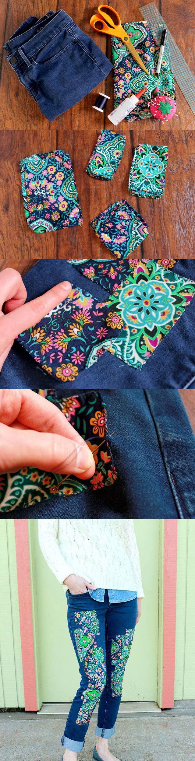 diy designed jeans