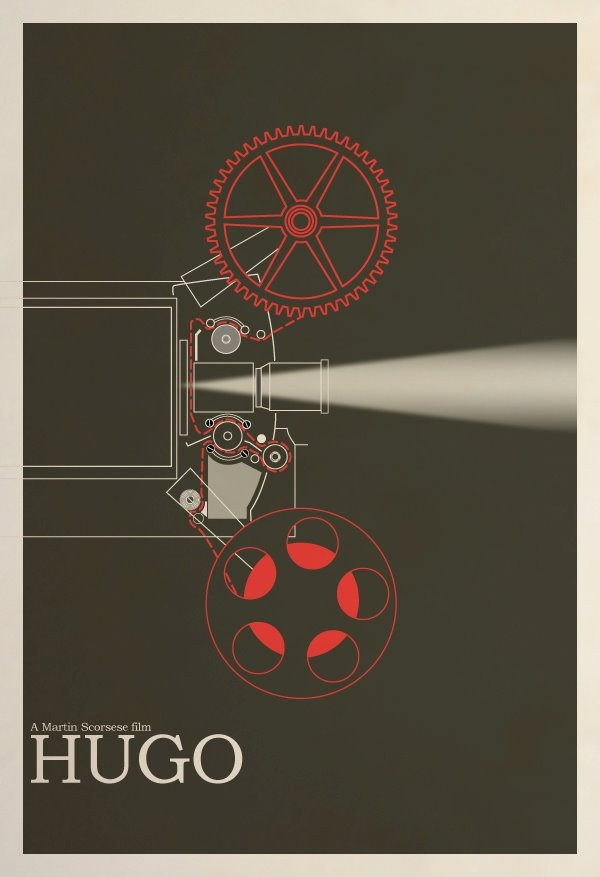 Minimal Movie Poster for Best Picture Nominee - Hugo