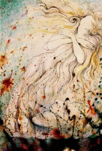 Salvador Dali - The Death of Ophelia   #art for your #inspiration