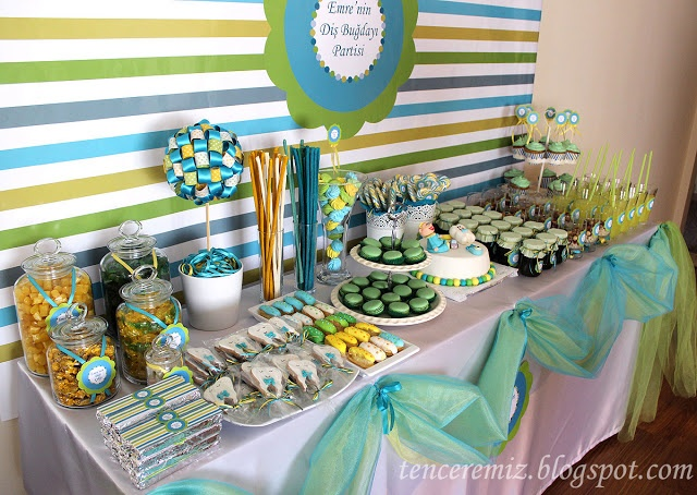 dental wheat party stand / candy buffet