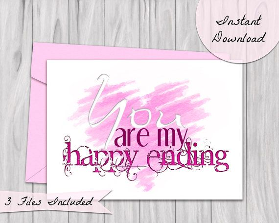You are my Happy Ending Card Printable