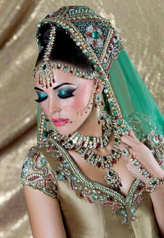 Indian Bridal Wear. Green.