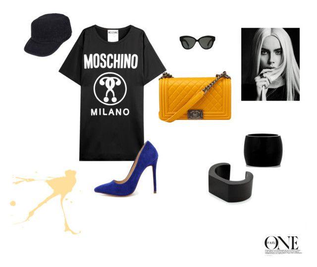 """#3"" by pchela on Polyvore featuring мода, Moschino, Liliana, Alexander McQueen, NOVICA, Linda Farrow и Black Rivet"