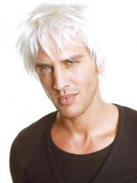"Perruques Hommes Cheveux Naturels Blanc Full Lace Durable 6"""