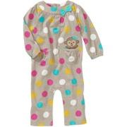 Child of Mine Carters Newborn Girls' Dot Print Jumpsuit