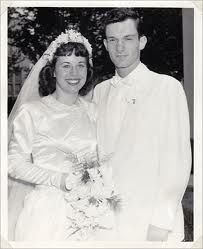 Hugh Hefner and first wife, Mildred Williams, 1949