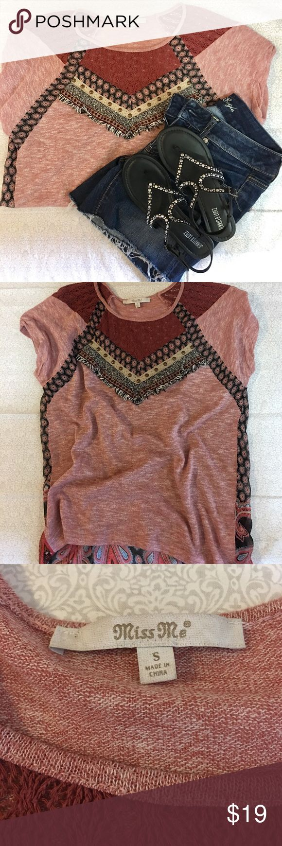 ⚡️2 Day Sale⚡️Miss Me Brand Pretty Top Pretty and flowy  size Small Miss Me Brand Top. In fantastic preowned condition, with no issues noted. Fast shipping, bundle and save! Miss Me Tops Blouses