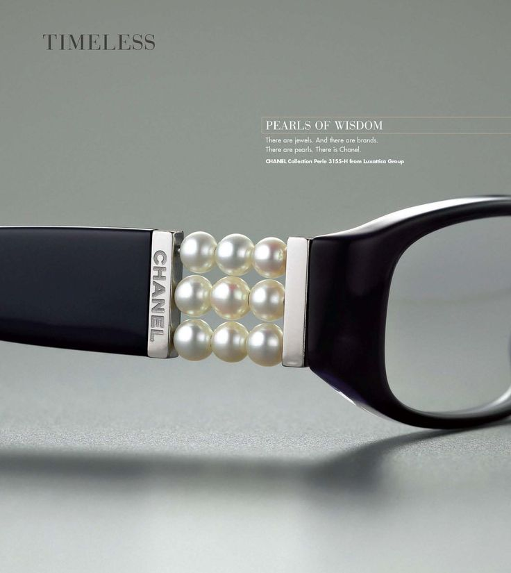 After seeing these gorgeous Chanel glasses it makes me wish that I wore glasses!