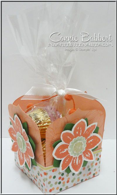 Petal Potpourri, Gold Soiree, Party Pennants, Favor Box, Stampin' Up!, #stampinup, Connie Babbert, www.inkspiredtreasures.com