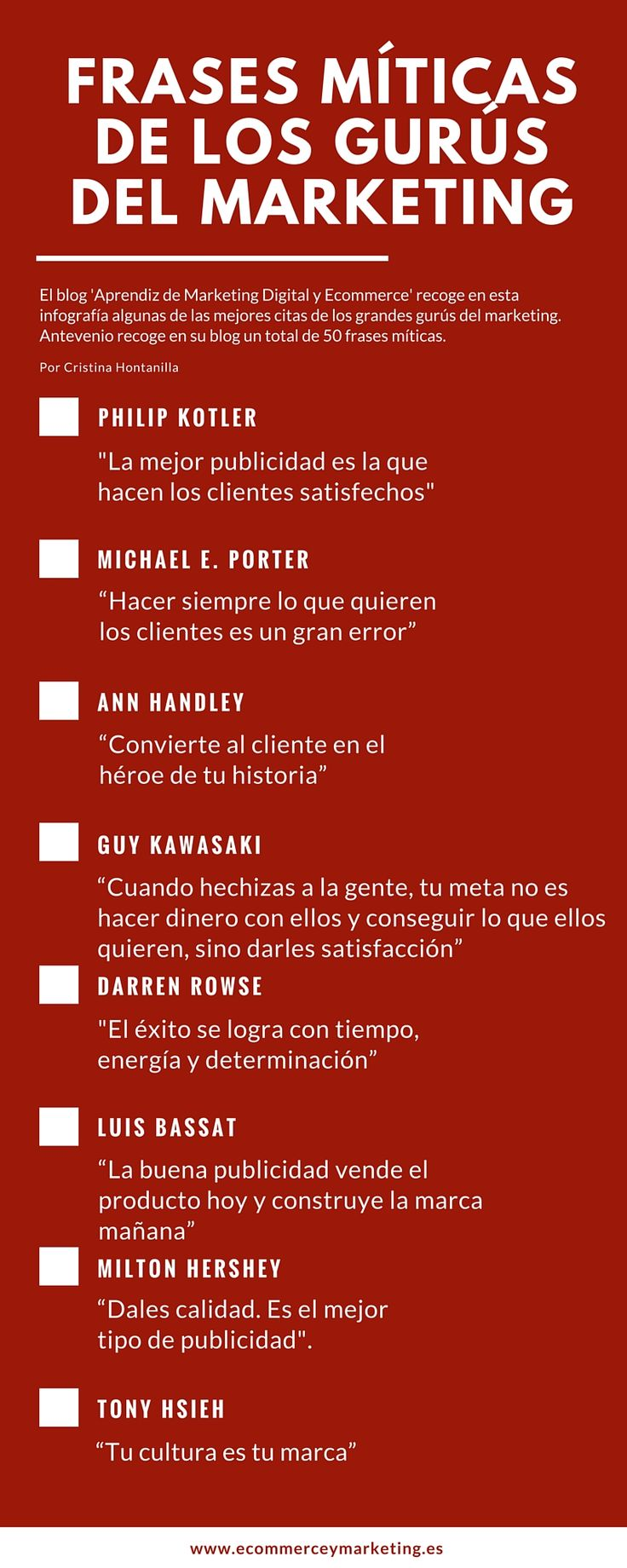 Infograf­a con las frases célebres del marketing