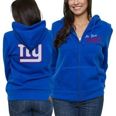 New York Giants Ladies Game Day Full Zip Hoodie - Royal Blue
