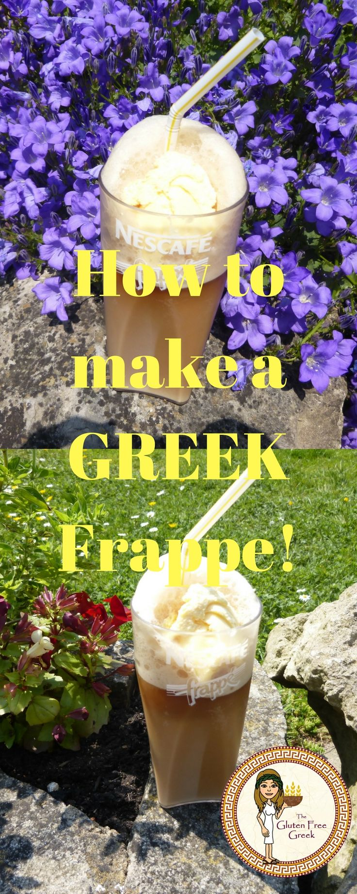 How to make a Greek frappe! Check out my blog for easy instructions!
