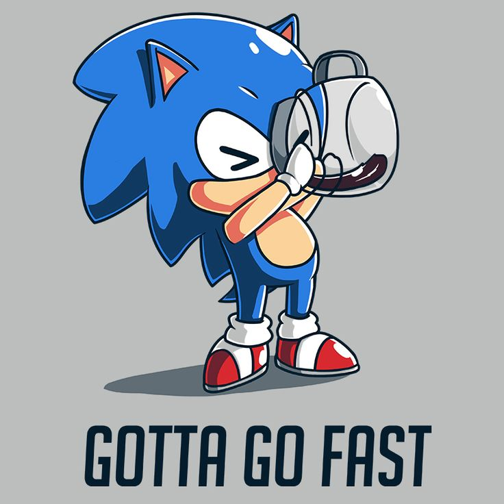 Caffeine Boost - This official Sonic the Hedgehog t-shirt featuring Sonic the Hedgehog is only available at TeeTurtle!