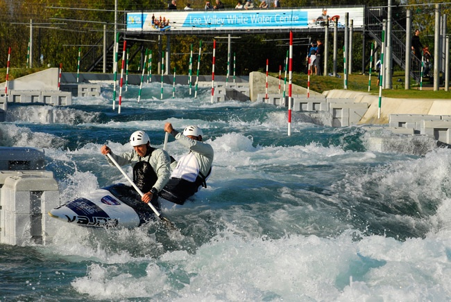 Canoe Slalom at Lee Valley White Water Centre, possibly a venue for the London 2012 Olympic Games