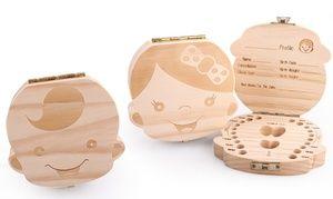 Groupon - Boîte à dents de lait en bois pour fille ou garçon. Prix Groupon : 8,99€