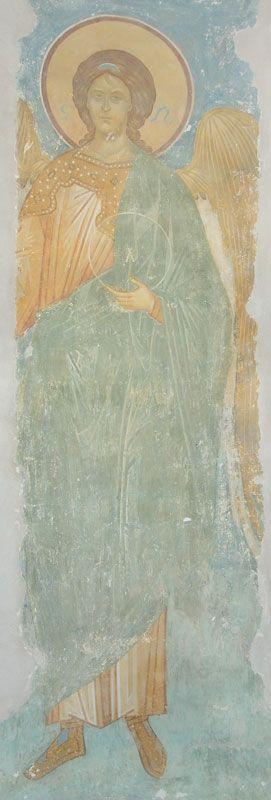 Музей фресок Дионисия - Купол, барабан и паруса - Неизвестный Архангел