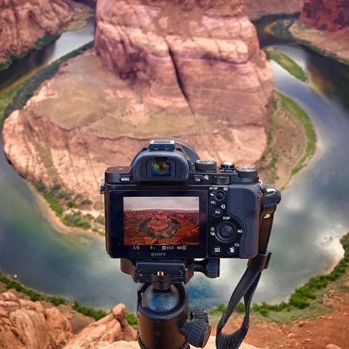 @missjessbess at Horseshoe Bend with the Sony A7 Selected by @AroundQ Follow  Tag @SonyImages #SonyImages for feature via Sony on Instagram - #photographer #photography #photo #instapic #instagram #photofreak #photolover #nikon #canon #leica #hasselblad #polaroid #shutterbug #camera #dslr #visualarts #inspiration #artistic #creative #creativity