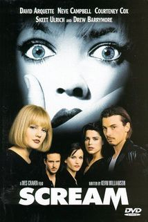 Scream (1996) cast: Skeet Ulrich, Neve Campbell, Matthew Lillard, Courteney Cox, David Arquette, Drew Barrymore