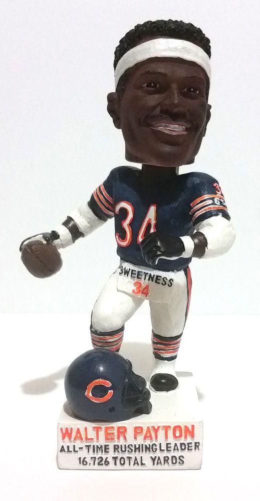 Walter Payton Ceramic Bobblehead, Running Chicago Bears Figurine, #34 Sweetness #BobbleDreams #ChicagoBears