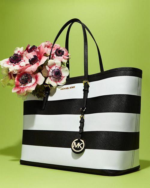 Michael Michael Kors Striped Tote.  Handbagsmichaelkors   Handbags ... 06bfcf67d6