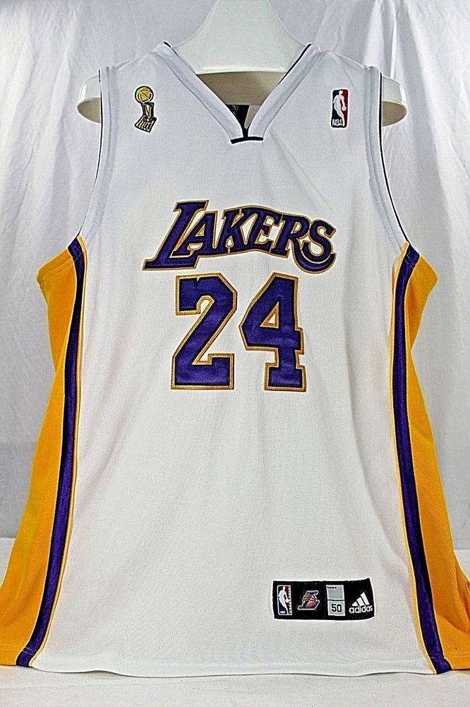 5017775f4 Los Angeles Lakers Kobe Bryant  24 White Jersey Adidas 50 Stitched  adidas   LosAngelesLakers