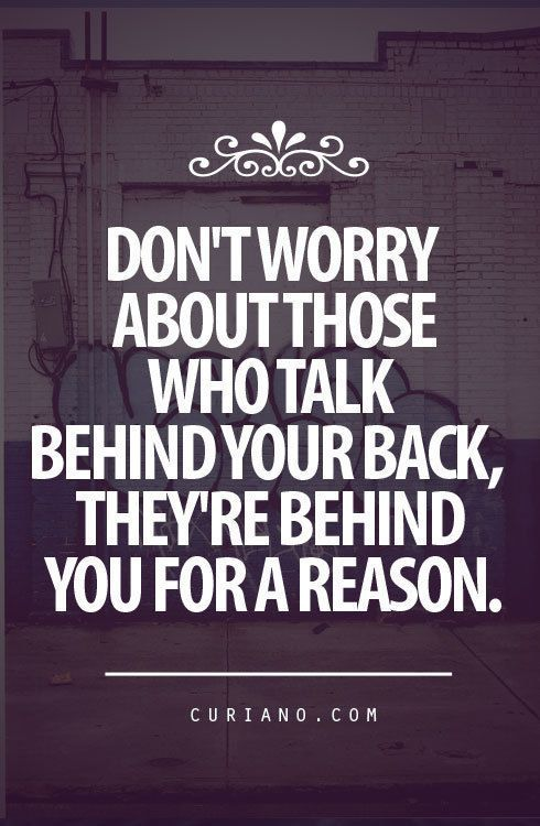 People try to drag you down for doing something they could never do themselves, Don't let them! just keep going and NEVER look back.