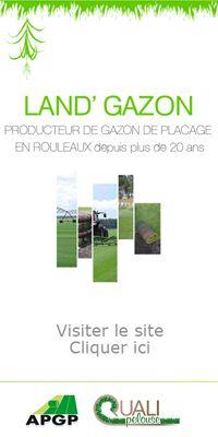 Land'Gazon : Société productrice de pelouse et gazon en bande, rouleau, plaque prêt à poser pour les espaces verts(Aquitaine-Gironde)