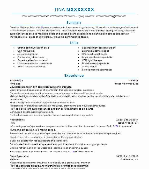 Pinterestu0027teki 25u0027den fazla en iyi Annandale virginia fikri - sample resume for makeup artist