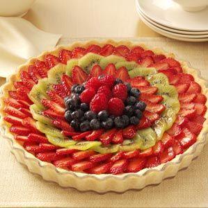 Elegant Fresh Berry Tart Recipe from Taste of Home
