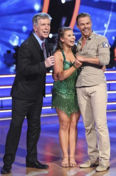 Dancing With the Stars host Tom Bergeron with Bindi Irwin & Derek Hough  -  Season 21  -  week 1  -  fall 2015
