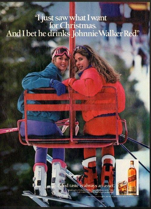 Great 80's liquor/ski ad