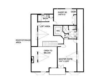 2nd Floor Plan, 012H-0134