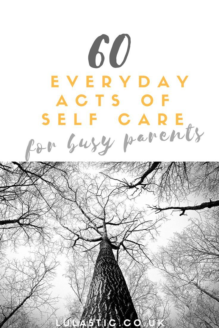 Self-care is one of the most important things we can do as a parent!