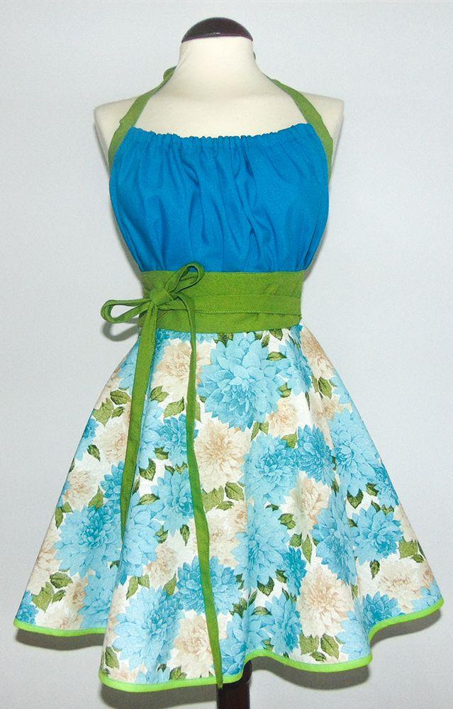 Blue Bouquet (Bouquet Azul) Delantal 70% algodón y 30% poliéster   Tela proveniente de España
