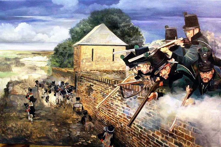 KGL defending La Haye Sainte Battle of Waterloo 1815