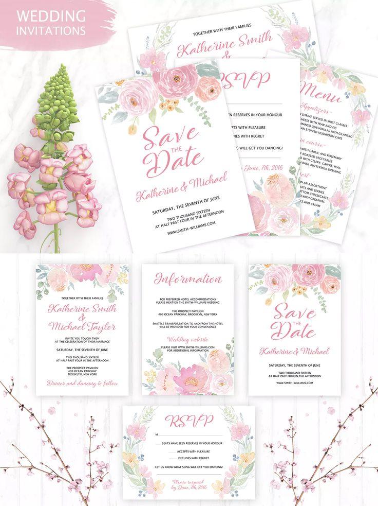 As 24 melhores imagens em wedding invitation card templates no pinterest tender wedding invitation templates psd stopboris Images