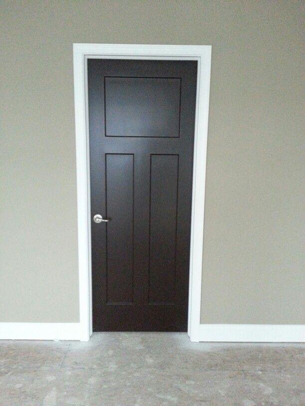 Love my interior doors! Sherwin Williams Black Bean   My ...