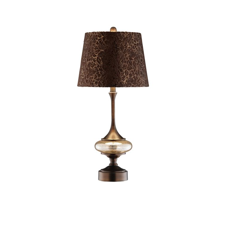Shop 265 In Dark Red Bronze Touch Indoor Table Lamp With Fabric Shade At Lowes