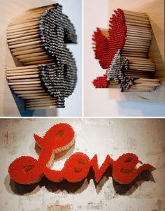 Fire Art Match Sculptures Pei San-Ng