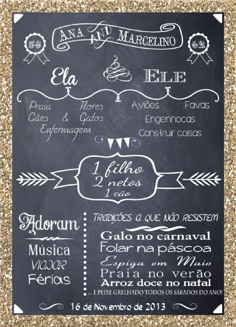 Chalk trend - Personalized Party Printable