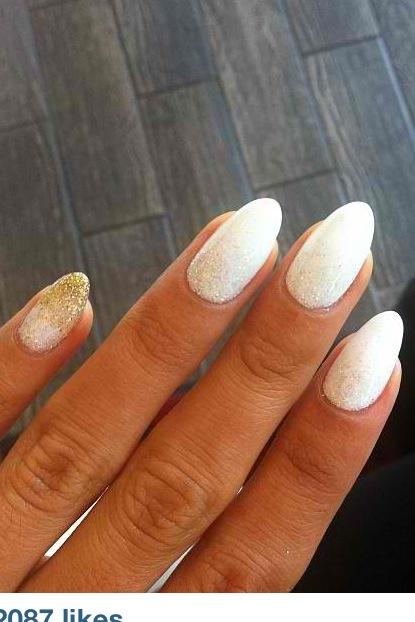 White stiletto nails! | Nails Did | Almond Nails, Nails ...