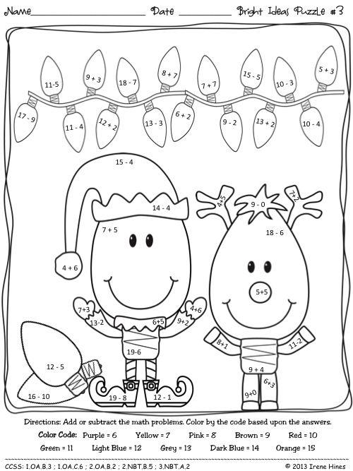Best 25+ Christmas maths activities ideas on Pinterest