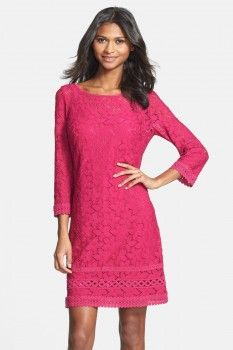 Laundry Laundry by Shelli Segal Scoop Back Lace Shift Dress