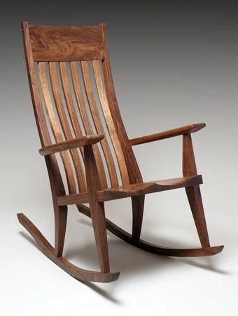 rocking chair in walnut