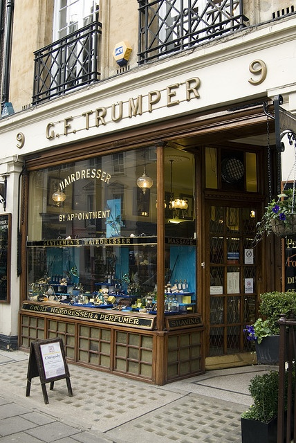 G F Trumper exclusive men's shop in Curzon Street, Mayfair, London, England