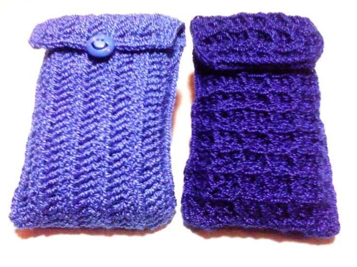Fundas Protección para el Celular Tejida a crochet con hilo